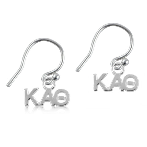 Kappa Alpha Theta Silver Earrings
