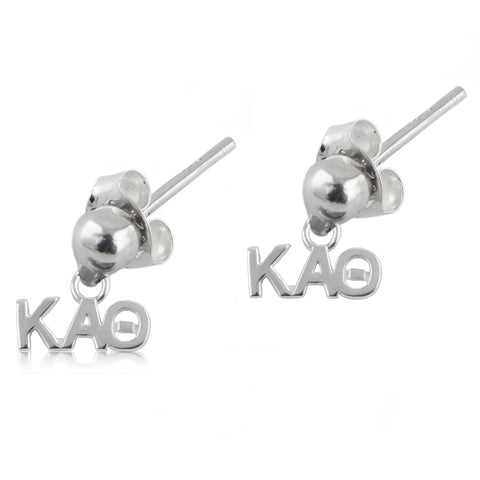 Kappa Alpha Theta Silver Post Dangle Earrings