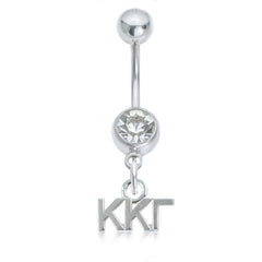 Kappa Kappa Gamma Stainless Belly Ring