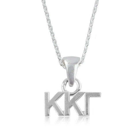 Kappa Kappa Gamma Silver Necklace
