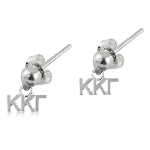 Kappa Kappa Gamma Silver Post Dangle Earrings