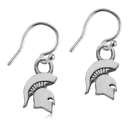NCAA Michigan State Spartans Silver Earrings