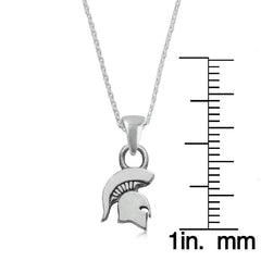 NCAA Michigan State Spartans Silver Necklace