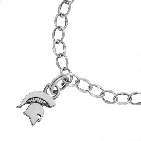 NCAA Michigan State Spartans Silver Bracelet