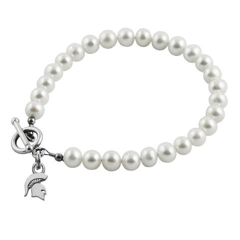 NCAA Michigan State Spartans Pearl Bracelet