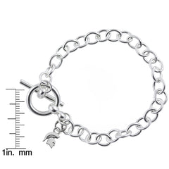 NCAA Michigan State Spartans Silver Link Bracelet