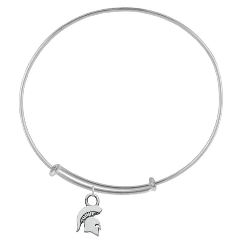 NCAA Michigan State Spartans Silver Adjustable Bracelet