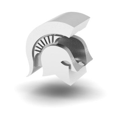 NCAA Michigan State Spartans 3D Logo Charm Bead