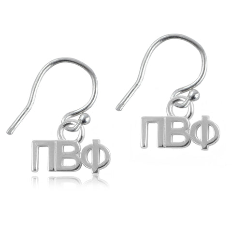Pi Beta Phi Silver Earrings
