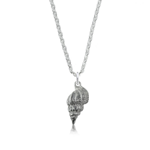 Conch Shell Silver Necklace