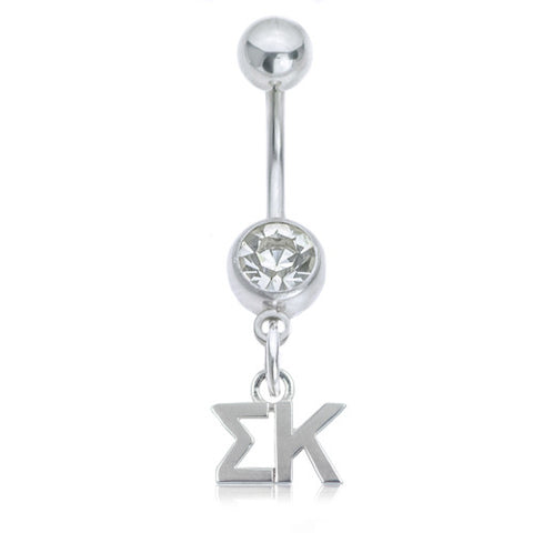 Sigma Kappa Stainless Belly Ring
