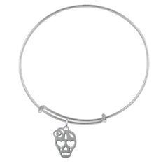 Skull Silver Adjustable Bracelet