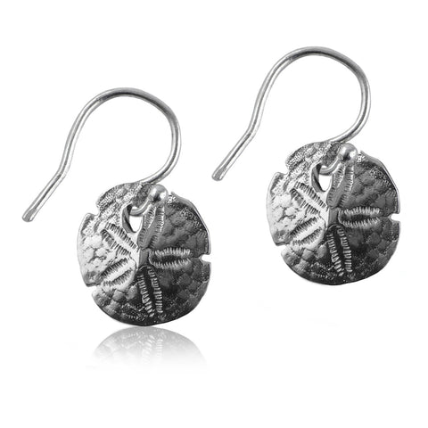 Sanddollar Silver Earrings