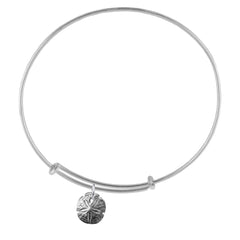 Sanddollar Silver Adjustable Bracelet