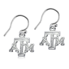 NCAA Texas A&M Aggies Silver Earrings