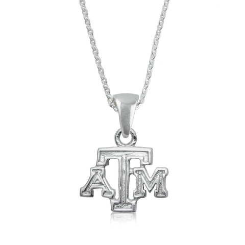 NCAA Texas A&M Aggies Silver Necklace