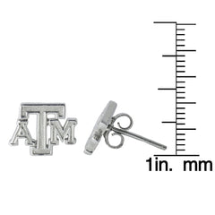 NCAA Texas A&M Aggies Sterling Silver Post Earrings