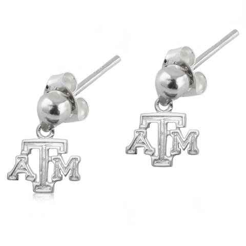 NCAA Texas A&M Aggies Silver Post Dangle Earrings