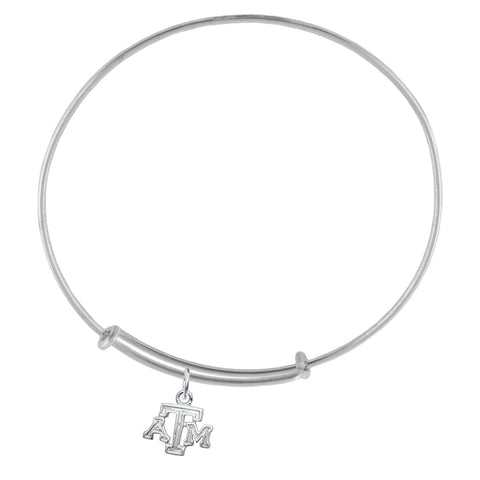 NCAA Texas A&M Aggies Silver Adjustable Bracelet