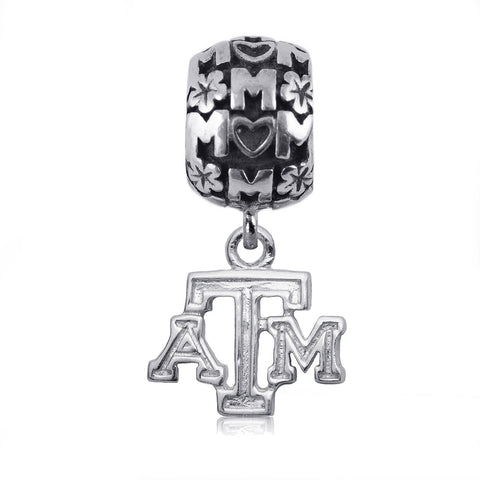 NCAA Texas A&M Aggies Silver Mom Charm Bead