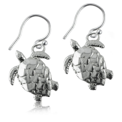 Turtle Silver Earrings