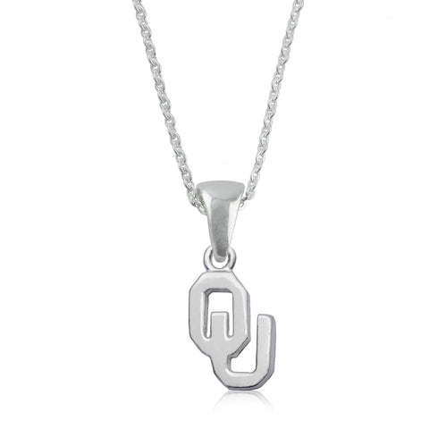 NCAA Oklahoma Sooners Silver Necklace