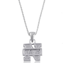 NCAA Navy Midshipmen Silver Necklace