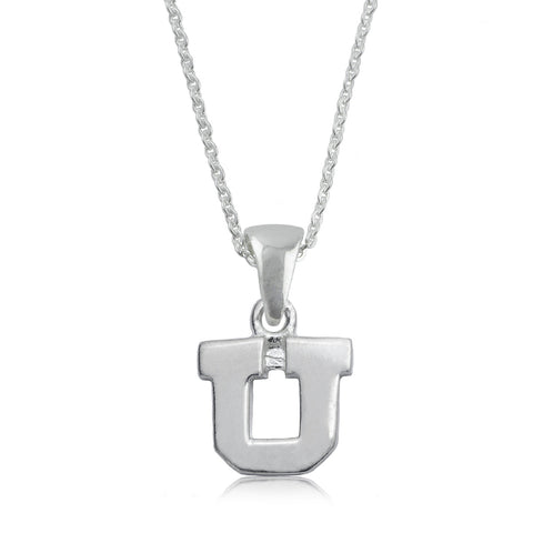 NCAA Utah Utes Silver Necklace