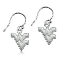 NCAA West Virginia Mountaineers Silver Earrings