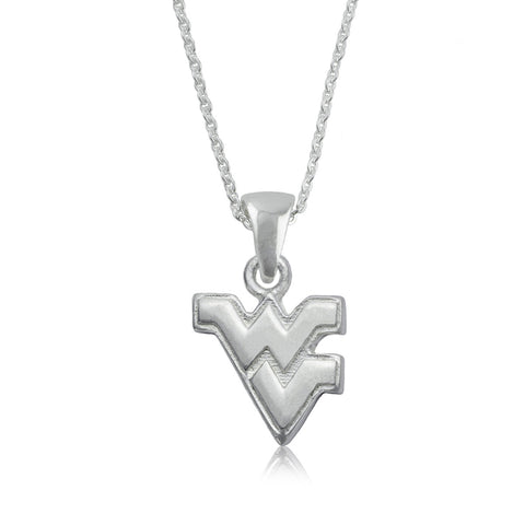 NCAA West Virginia Mountaineers Silver Necklace