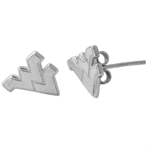 NCAA West Virginia Mountaineers Sterling Silver Post Earrings