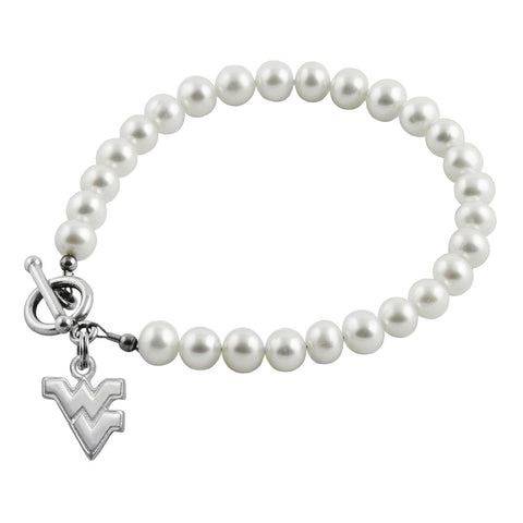NCAA West Virginia Mountaineers Pearl Bracelet