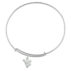 NCAA West Virginia Mountaineers Silver Adjustable Bracelet
