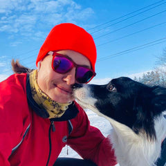 Kathi and her Border Collie Rey
