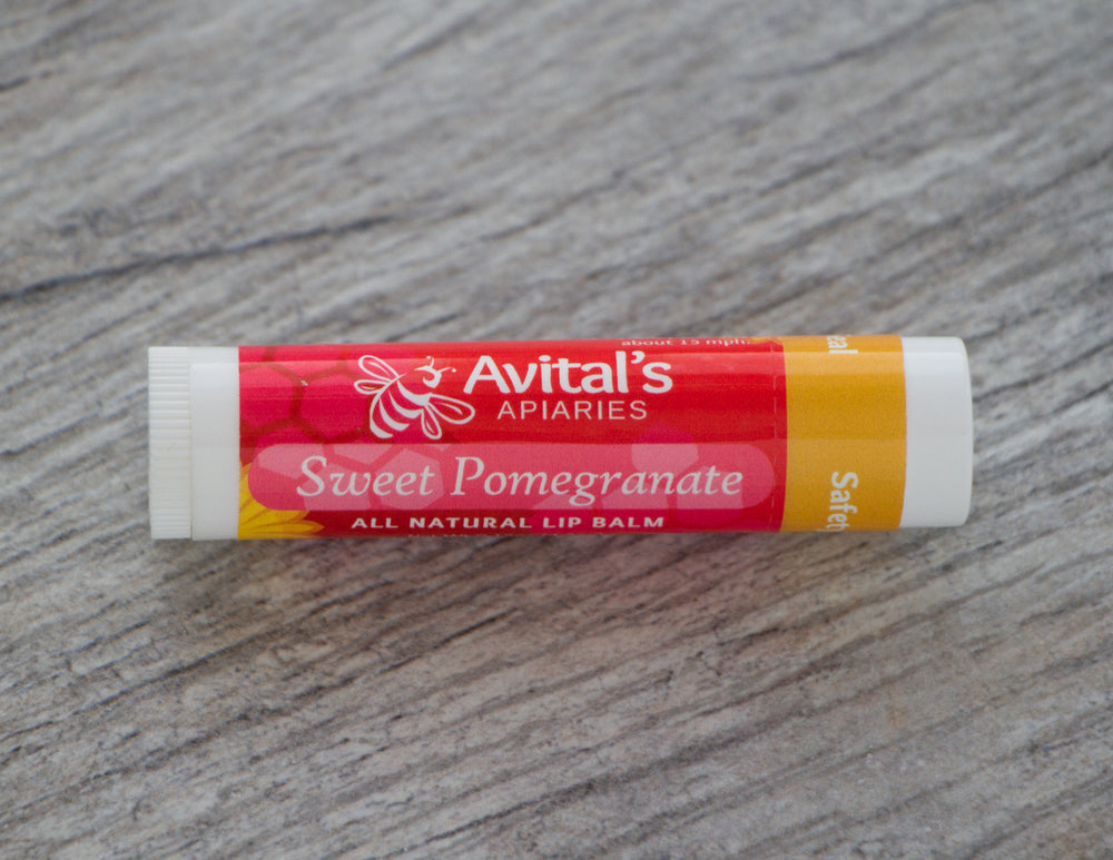 Sweet Pomegranate Bee Kissed Lip Balm with organic butters