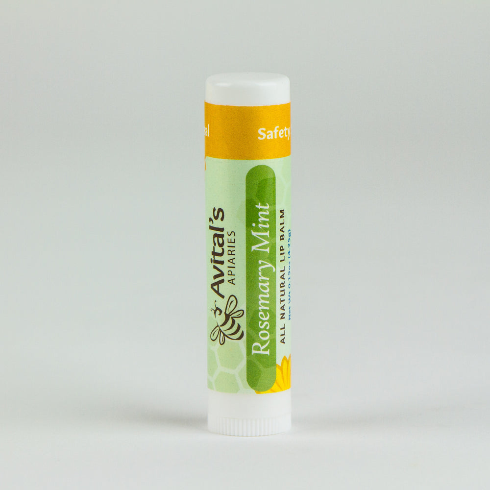 Rosemary-Mint Bee Kissed Lip Balm with organic butters and essential oils