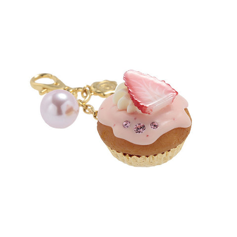 Strawberry Cupcake Bag Charm