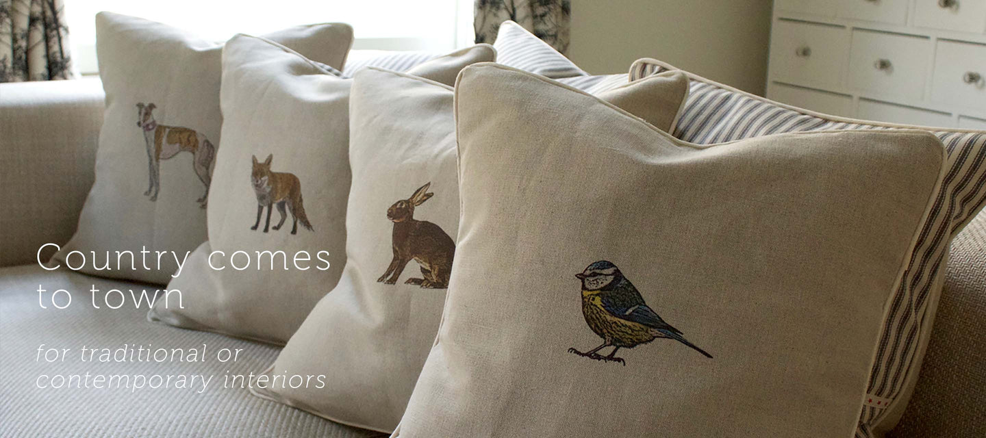 country motif cushion traditional and country interiors