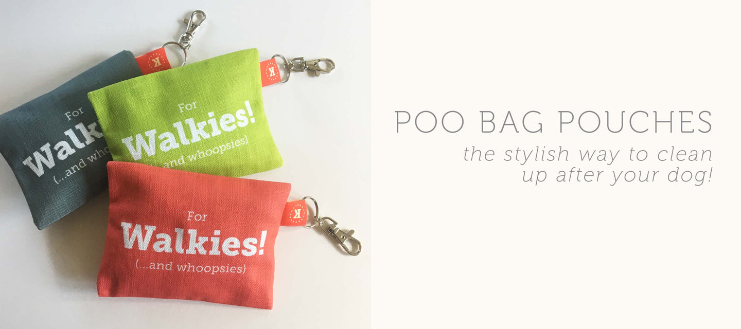 poo bag pouches to clean up after your dog