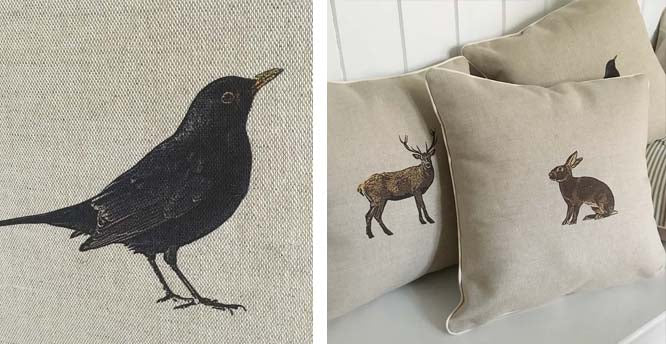 cushions with country animal motif