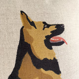 german shepherd feature cushion