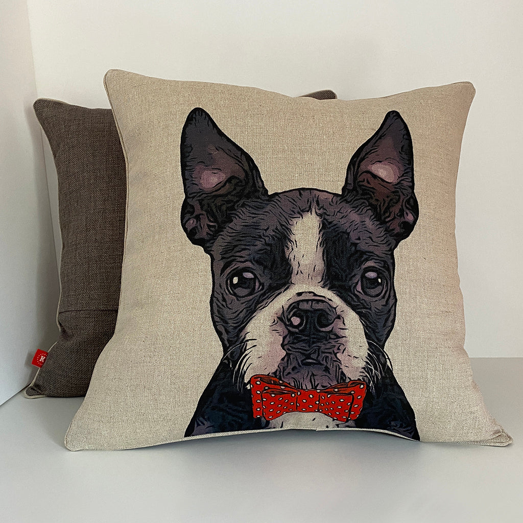 boston terrier cushion