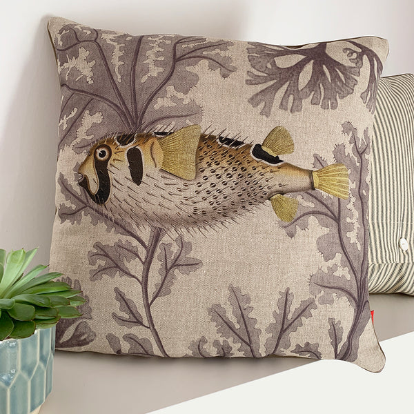 porcupine fish cushion cover