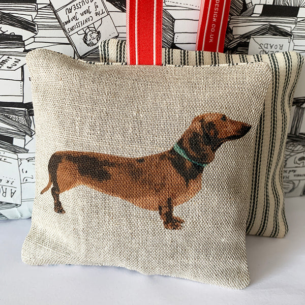 red dachshund lavender bag