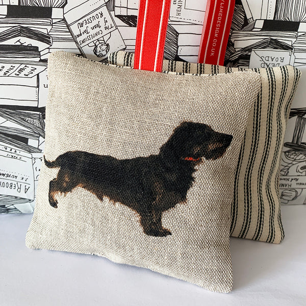 wire hair dachshund lavender bag