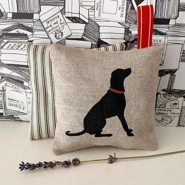 Black Labrador lavender bag