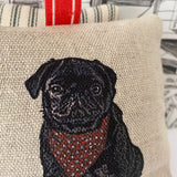 BLACK PUG LAVENDER BAG