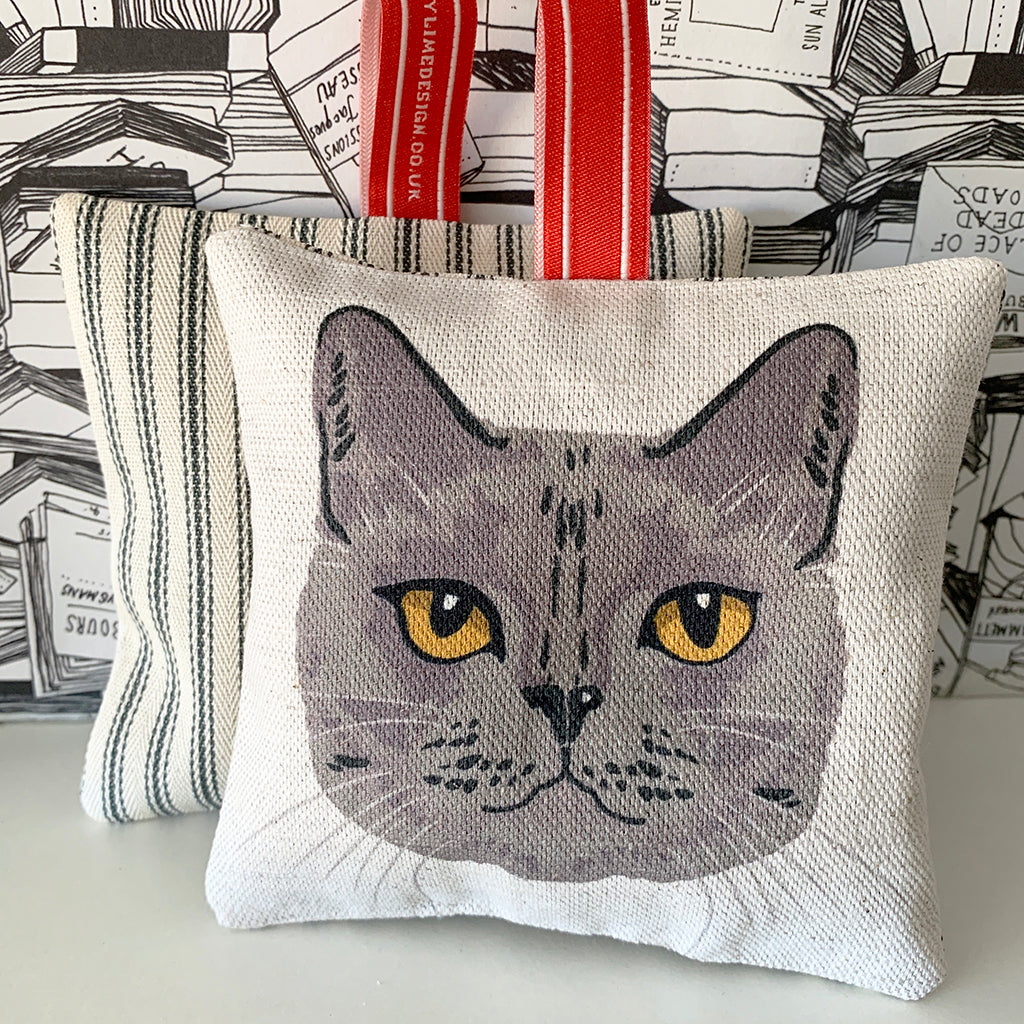 british shorthair cat lavender bag