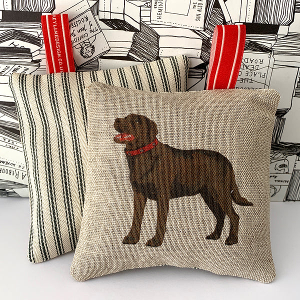 brown labrador lavender bag