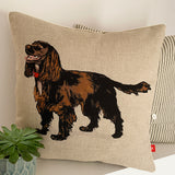 brown cocker spaniel portrait contemporary cushion